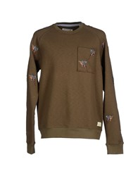 Anerkjendt Topwear Sweatshirts Men Military Green