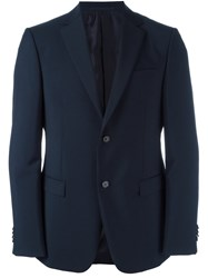 Z Zegna Two Button Jacket Blue
