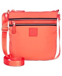 Tommy Hilfiger Active Nylon Flat Small Crossbody Coral