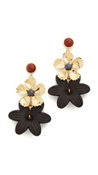 Lizzie Fortunato Daisy Chain Earrings Black