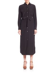 Polo Ralph Lauren Silk Shirtdress Black
