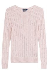 Polo Ralph Lauren Cotton Cable Knit Pullover Pink