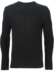 Ermanno Scervino Open Knit Sweater Black