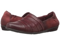 Earth Marsala Burgundy Print Suede Women's Slip On Shoes Brown