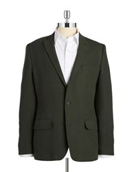 Buffalo David Bitton Two Button Blazer Green