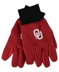 Forever Collectibles Oklahoma Sooners Palm Gloves Red Maroon