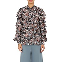 Valentino Women's Georgette Butterfly Blouse No Color