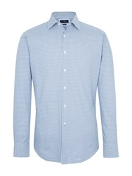 Paul Costelloe Temple Check Cotton Slim Fit Shirt Grey
