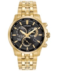 Citizen Men's Eco Drive Gold Tone Stainless Steel Bracelet Watch 42Mm Bl8142 50E