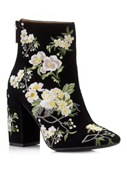 Miss Selfridge Athena Floral Embroidered Boot Black