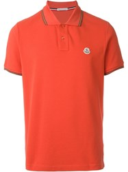 Moncler Classic Polo Shirt Red