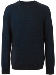 Dondup Perforated Sweater Black