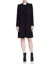 The Kooples Double Breasted Coat Black