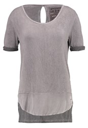Gwynedds Gisele Print Tshirt Dark Chocolate Grey