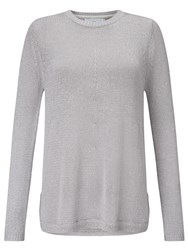 John Lewis Capsule Collection Metallic A Line Jumper Silver