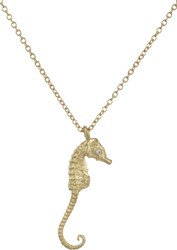 Finn Diamond And Gold Pygmy Sea Horse Pendant Necklace Colorless