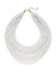 Natasha Multi Strand Beaded Necklace White