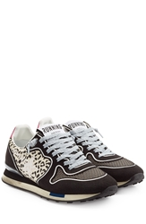Golden Goose Running Sneakers With Leather