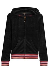 Juicy Couture Embroidered Velour Hoodie Black