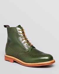 Mark Mcnairy Country Brogue Boots Bottle Green