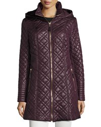 Via Spiga Quilted Coat With Hood Marsala
