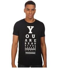 Life Is Beautiful Eye Test Crew Neck Tee Black T Shirt