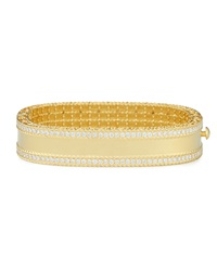 18K Gold Princess Bangle With Pave Diamonds Robert Coin