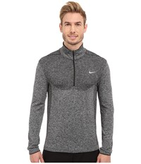 Nike Flex Knit 1 2 Zip Top Black Anthracite Reflective Silver Men's Long Sleeve Pullover