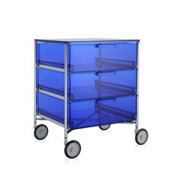 Kartell Mobil 3 Drawer Wheels Blue