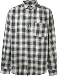 A.P.C. 'Trevor' Plaid Button Down Shirt Nude And Neutrals
