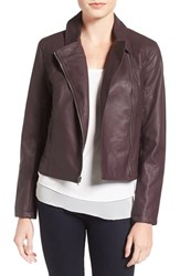 Cupcakes And Cashmere Women's 'Joslyn' Faux Leather Moto Jacket Oxblood