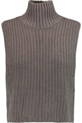 Autumn Cashmere Knitted Turtleneck Top Nude