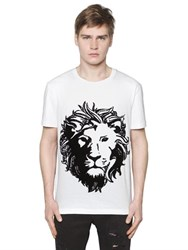 Versus Lion Embroidered Jersey T Shirt