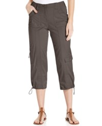 Styleandco. Style And Co. Cargo Capri Pants Brown Clay