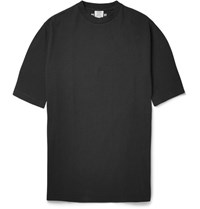 Vetements Oversized Snoop Print Cotton Jersey T Shirt Back Black