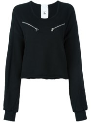 Lost And Found Rooms Cropped Sweatshirt Black