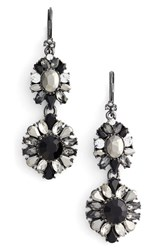 Marchesa Women's Regal Affair Double Drop Earrings