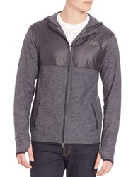 New Balance Contrast Athletic Hoodie Grey