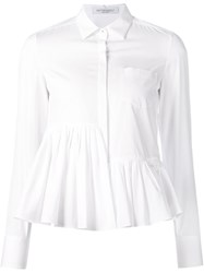 Viktor And Rolf Peplum Hem Shirt White