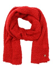Jane Norman Red Cross Hatch Knitted Scarf