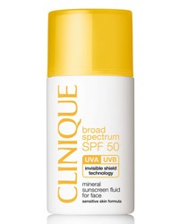 Clinique Mineral Sunscreen Fluid For Face Broad Spectrum Spf 50 1.0 Oz.