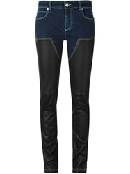 Givenchy Skinny Panelled Jeans Blue