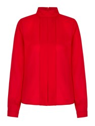 Yumi Tux Pleated Shirt Red