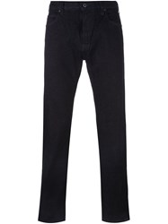 Armani Jeans Straight Leg Trousers Blue