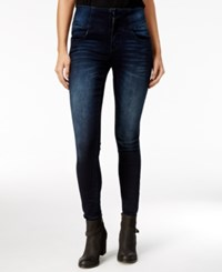 Rampage Juniors' Wes High Rise Super Skinny Jeans Mulberry Wash