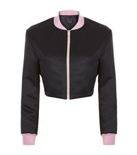 Pinko Cropped Bomber Jacket Female Black