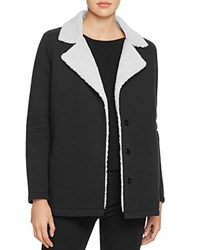 Velvet By Graham And Spencer Faux Sherpa Terry Jacket Black