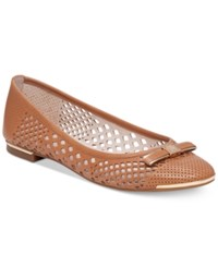 Vince Camuto Celindan Perforated Ballet Flats Women's Shoes Dark Sand
