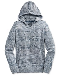 American Rag Men's Mix Stitch Marled Hoodie Only At Macy's Basic Navy