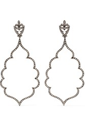 Loree Rodkin 18 Karat Rhodium White Gold Diamond Earrings